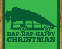 National Lampoon's Christmas Vacation - Griswold Family Christmas Tree - Christmas Card (125mm Square)