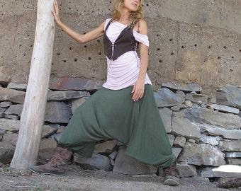 HAREM YOGA PANT, Aladdin Pant, Yoga Wear, Maxi Trousers, Loose fit, Meditation, Beach, Comfortable Pants, Afgani, Yogini Pants, Vinyasa Yoga
