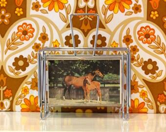 Vintage Letter Rack Horses Atomic Vernon Ward Floral