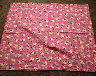 Pink Monkey Cuddle Blanket