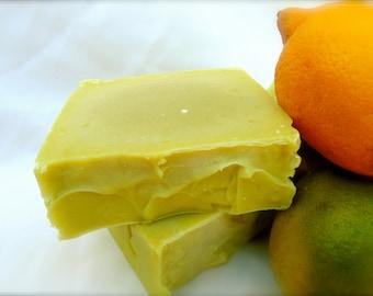 Lemon Lime Caffeine Soap, Goat Milk Caffeine Soap Bar