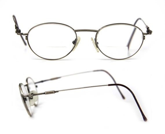 guess thin wire rim eye glasses rx for men or women round