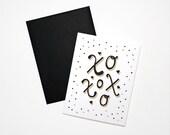 Love Card- XoXoXo with Metallic Gold