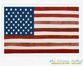 American Flag Art Print - Collage Art Print Poster - Framable American Flag Print