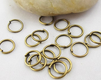 About 800 Pieces 9 mm Antique Bronze Jump Rings Jewelry Findings A2311-25