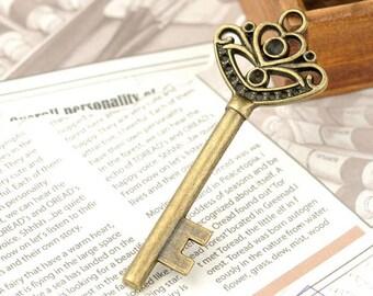 5 pcs 26x66mm Antique Bronze Huge Key Charm Pendant Jewelry Findings Drops JM 0343