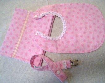 Burp Cloth, Bibs, baby Girl Bib, Baby Pacifier Clip, Baby Burp Cloth, Pink  Burp Cloth, Baby Bib Pink, Flannel Bib for Girls.