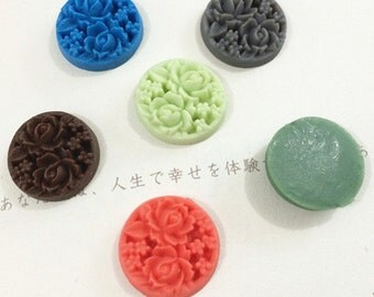 6pcs 19mm  Mixed color resin flower