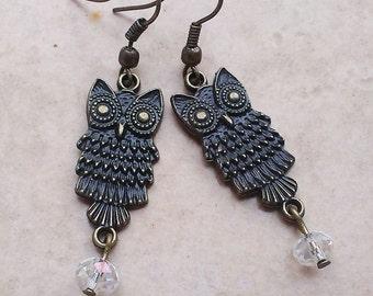Owl dangle chic earrings