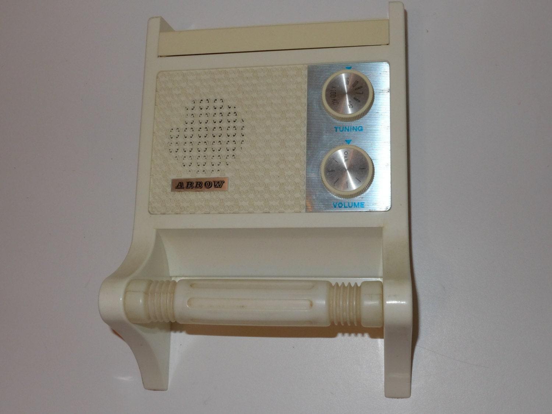 Am Radio Toilet Paper Holder Vintage Arrow Plastic Wall Mount .