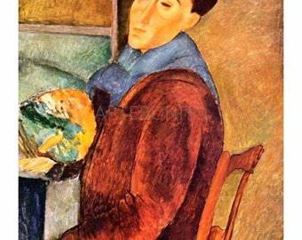Amedeo Modigliani,   'Self portrait' .Giclees, L.E