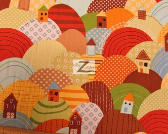 """At The Farm By Robert Kaufman 100% Cotton Fabric - 45"""" Width Sold By The Yard (FH-972)"""