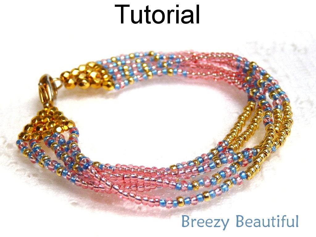 Brick stitch beading pattern bracelet jewelry making for Simple beaded jewelry patterns
