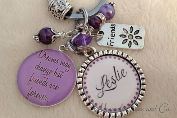 FRIEND GIFT Personalized Best Friend, Key chain, Sister Jewelry, Keychain, Friend Necklace, Bridesmaid Wedding Gift, Friends Forever