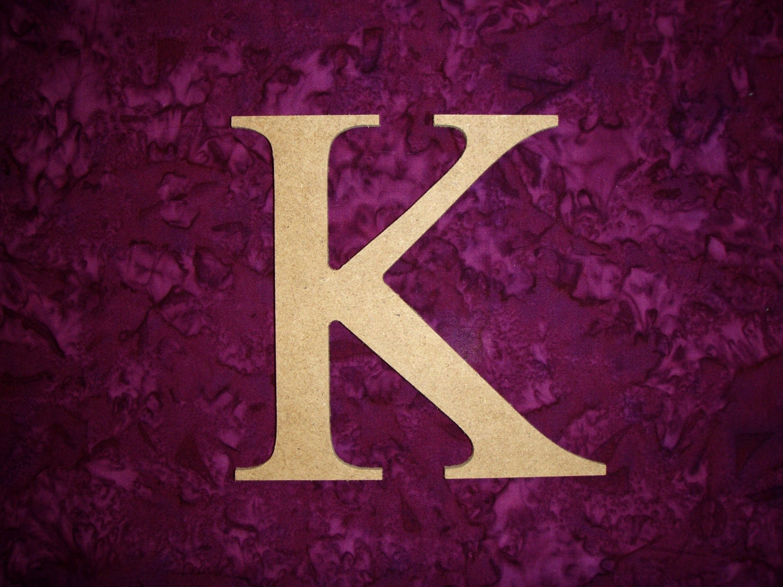 Unfinished Wood Greek Letter K Kappa Symbol Wooden Unpainted