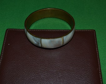 ON SALE  Bangle Bracelet with Mother of Pearl