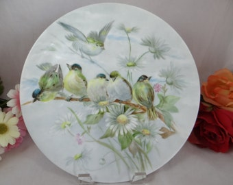 Vintage Hand Painted Bird Finch Plate - Stunning Amazing