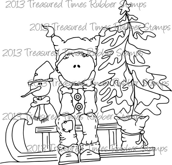 James & Sled Clear Stamp