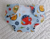 Pirate Animal Doll Diaper - **READY TO SHIP**