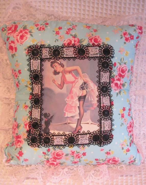 Pin Up Girl Cushion