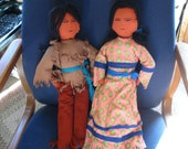 Handmade slightly stylized Navajo dolls.