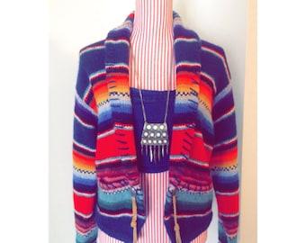Vintage Boho Sweater Jacket