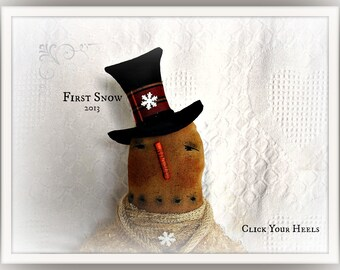 E Pattern  First Snow Snowman   Click Your Heels