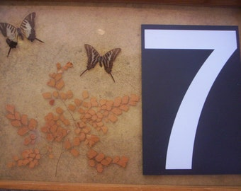 Number 7/Vintage plastic number/Black and white plastic number/Plastic numbers/Salvage plastic/Salvage number/Number /Vintage number