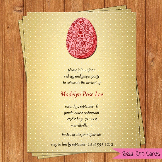 lovely red egg and ginger party invitation and 15 red egg and ginger party invitation wording