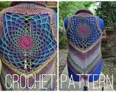 Crochet Pattern - Dreamcatcher Mandala Vest