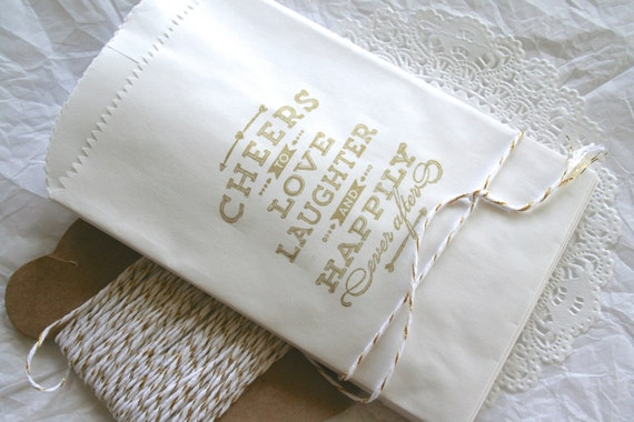 Gold Wedding Gift Bags : Metallic Gold WEDDING Favor Bags, Treat Bags, Candy Bags