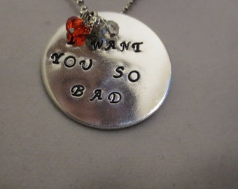 """Beatles """"I Want You So Bad"""" necklace"""