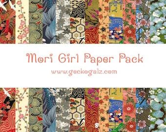 Mori Girl Digital Paper Pack