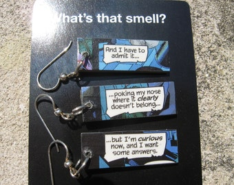 Comic Earrings - Curious