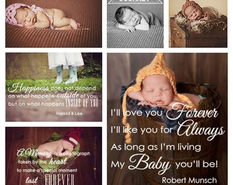 Newborn overlays, Photo Overlays, Word Arts, Baby Photo Overlays, INSTANT DOWNLOAD