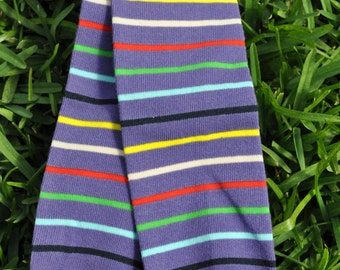 Purple with Stripes Warmers- customize available