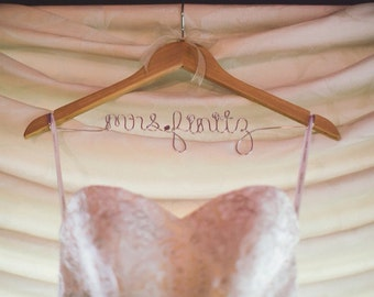 Personalized Name Hanger, Wedding Dress Name Hanger