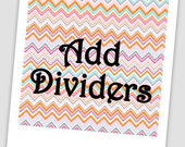 Add a Divider to your Recipe or Organizational Binder / 8.5 x 11 Divider /  5.5 x 8.5 divider / Custom Colors & Wording available / Custom
