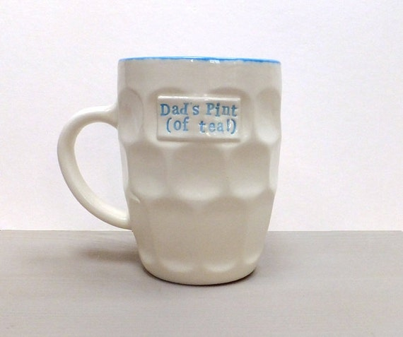 Personalised Mug Pint Pot Ceramic Pint Mug Gift For Dad