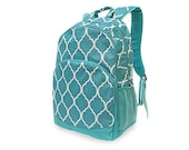 Personalized/Monogrammed Back Pack, Full Size Quatrefoil Patterned Back Pack For All Ages With Custom Embroidery