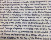 """Cotton quilt fabric  Marcus Brothers  Pledge of Allegiance patriotic 45"""" wide"""