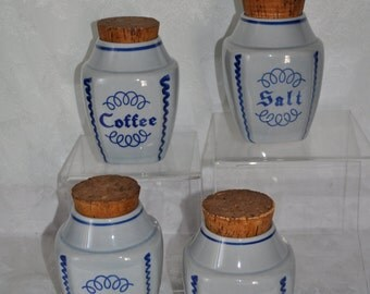 Sholar Ceramic Canisters (Set of 4)