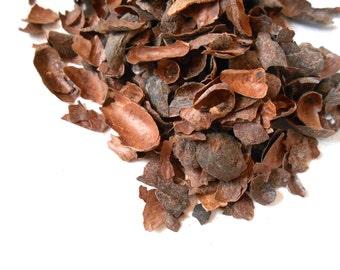 Roasted CACAO SHELLS, Organic - Cocoa Chocolate Tea - Dark, Delicious, and Decadent