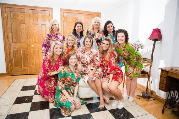 Bridesmaid Gift Ideas For Destination Wedding : Bridesmaid Gift, Destination Wedding Robes Bridesmaid Dresses ...