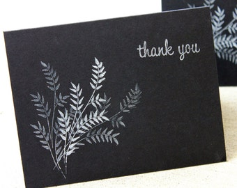 Black and White Card Set, Black & White thank you cards, Thank you card set, wedding thank you cards, wedding cards, blank card set of 5