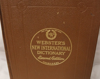1959 Webster's New International Dictionary