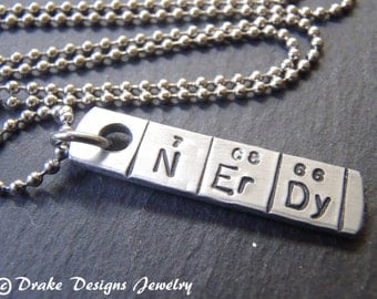 science necklace chemistry jewelry NErDy geek jewelry