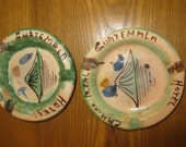 Collectible Vintage Camino Real Hotel ashtrays made in Guatemala
