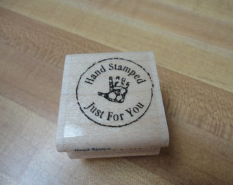Stampendous Hand Stamped Just For You Rubber Stamp