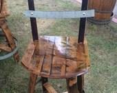 """Wine barrel Swivel Chair (29"""")"""